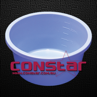 250ml disposable bowl plastic blue