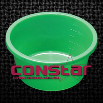 250ml disposable bowl plastic green
