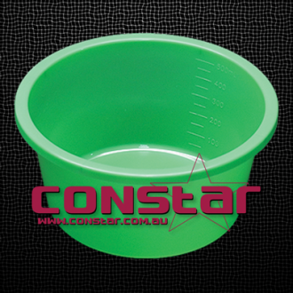 500ml disposable bowl plastic green