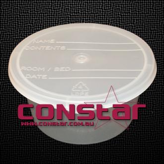 250ml denture bowl plastic clear